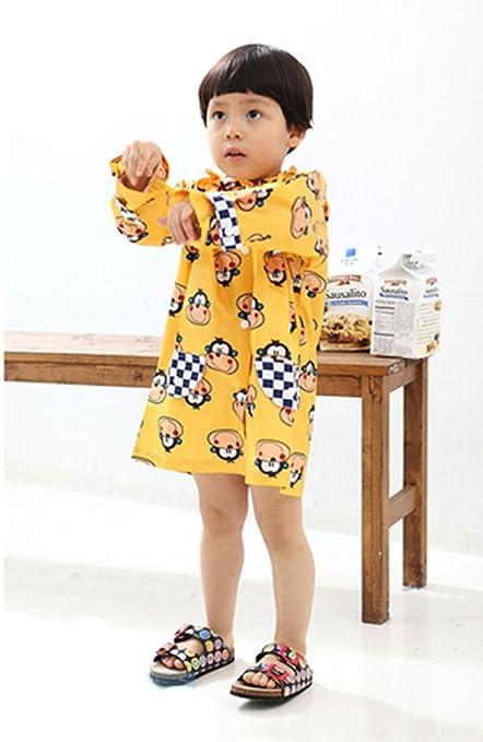 2ed31608d Amazon.com  YELLOW Monkey Toddler Rain Day Outerwear Baby Rain ...