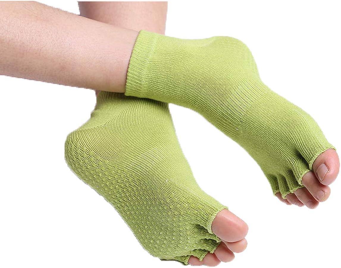 FORLADY Professional Yoga Socks Digging Mouth Five Fingers Yoga Slippery Back Five-toed Yoga Socks Dance Socks