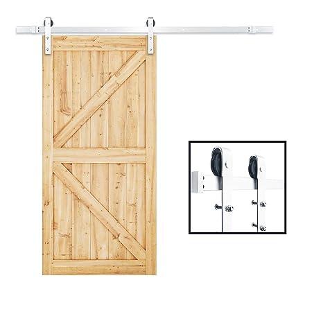 Amazon Tcbunny Sliding Barn Door Hardware Set Stainless Steel