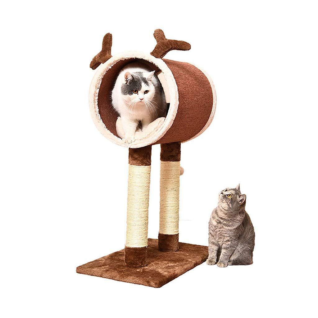 Brown 613585.5cm Brown 613585.5cm Cat Climbing cat Toy cat Rack cat Litter Four Seasons Universal cat House cat Tree cat House