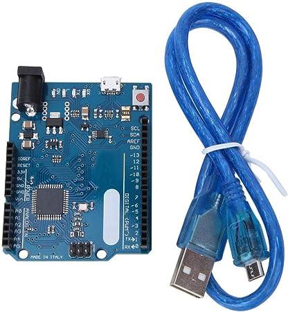 Placa de desarrollo con cable USB para Arduino Leonardo R3 ...