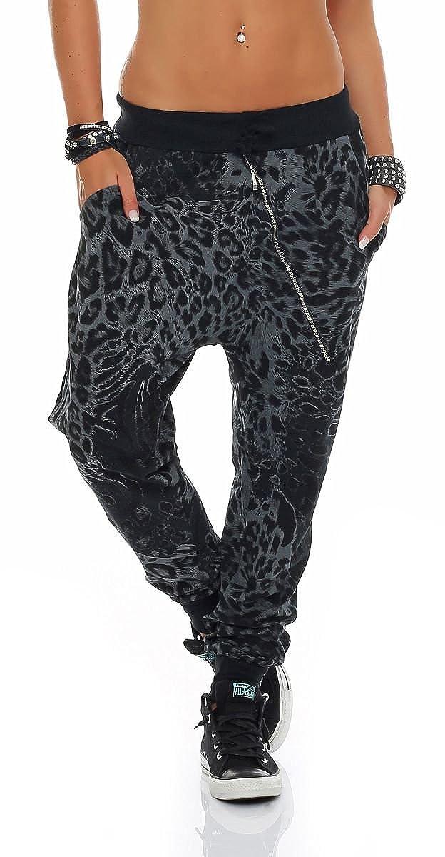 malito Pantaloni Leo-Design Boyfriend Twist Aladin Sbuffo Pantaloni Pump Baggy Yoga avvolgere 3344 Donna Taglia Unica