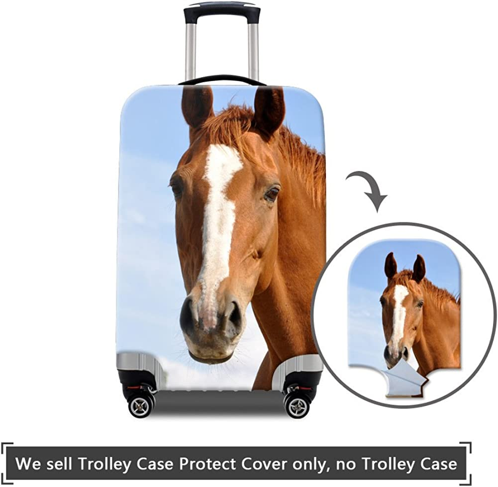 MR.TOWIN 3D Print Horse Pattern Luggage Cover Travel Suitcase Elastic Luggage Personalized luggage protector cover 18-30 Inch