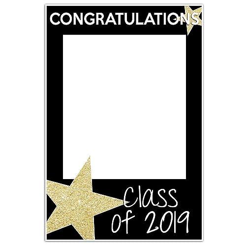 Amazon com: Class of 2019 Graduation Selfie Frame Party Photo Prop