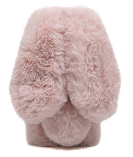 reputable site 32bd8 98dcc Furry Case Ears iPhone 6Plus Rose Pink, Fluffy Rabbit Case iPhone 6S Plus,  Fashion Pom Pom Faux Furry Bunny Case iPhone 6Plus & iPhone 6S Plus Soft ...
