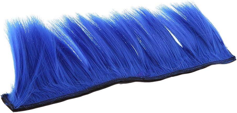 perfk 2X Perruque Mohawk de Casque de Moto Coiffure Mohawk Cr/ête Wig Casque de F/ête Mohark Jaune Bleu
