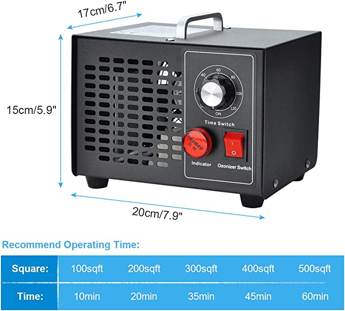 COVVY Generador de ozono comercial,esterilizador de purificador de ...