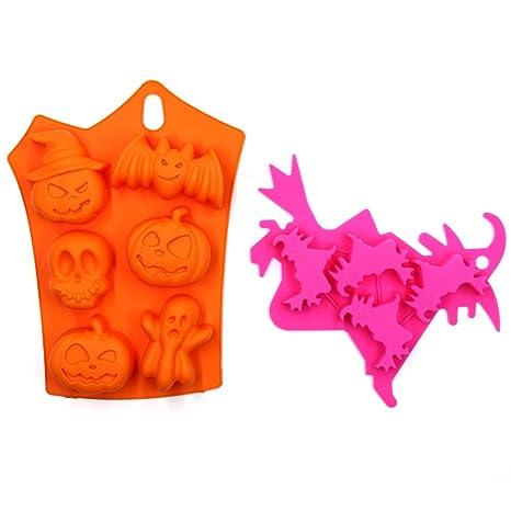 torte e stampo per cioccolatini – Confezione da 2 Halloween Decor Kitchen  Craft bat Pumpkin Face 7bfba0cc8fd8