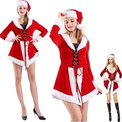 94c907ee4218 Costume da Babbo Natale da Donna Sexy Vestito da Babbo Natale Costume da  Babbo Natale in