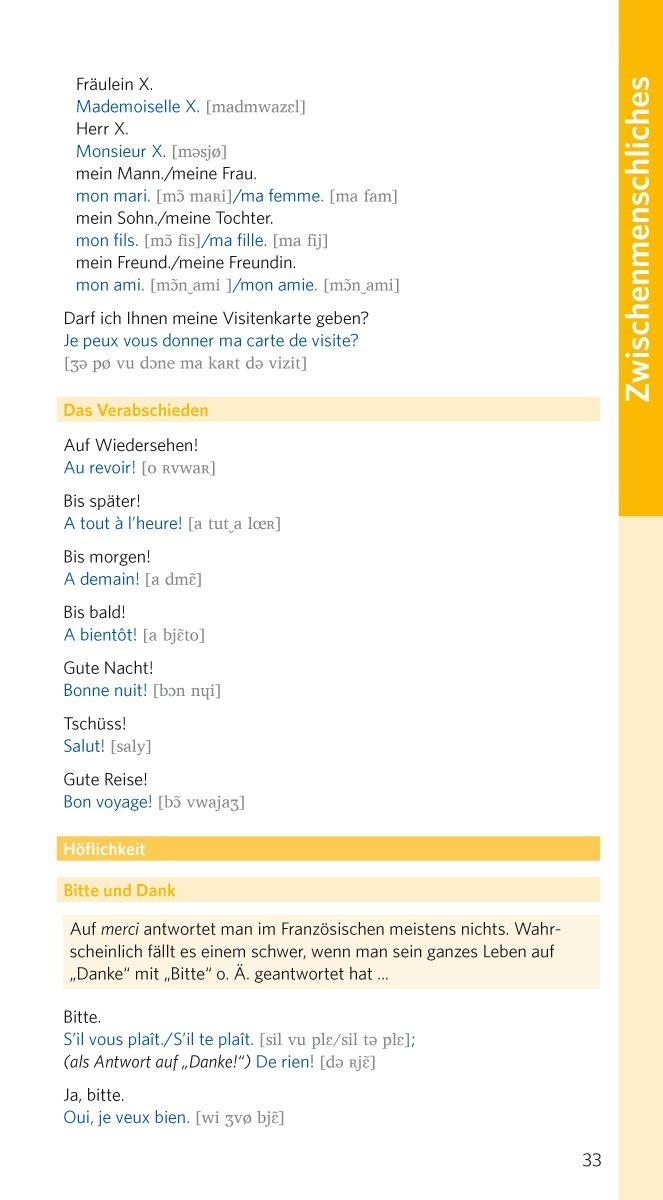 PONS Reiseworterbuch Franzosisch Und Sprachfuhrer Mit Interkulturellen Tipps Amazonde Bucher