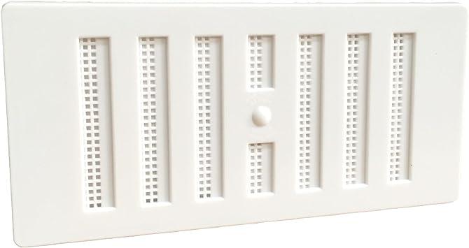 """6/"""" x 3/"""" en Plastique Blanc Louvre Air Vent Grille avec Accessoires Couverture"""