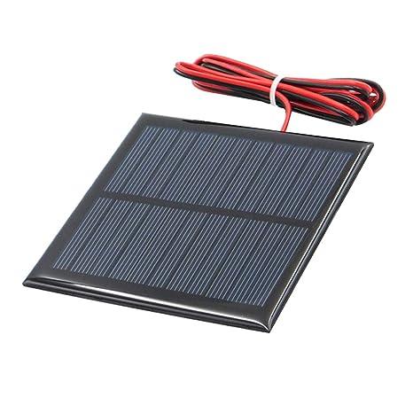 Mini Panel Solar De Silicio Policristalino Diy Cargador de Batería - k 5.5v 95x95mm