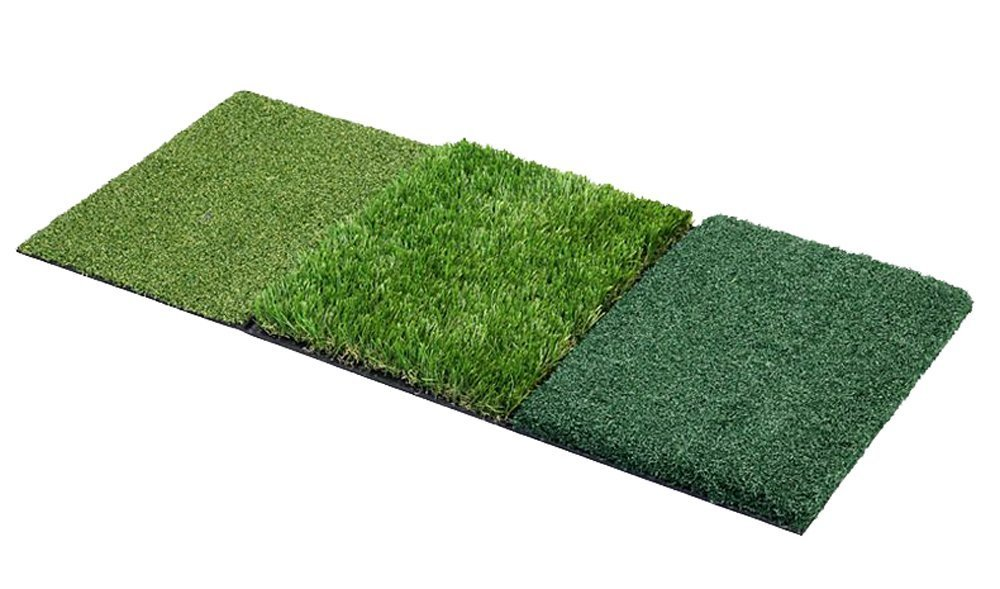 Faswin Tri-Turf Portable Golf Hitting Mat, 35'' x 16''