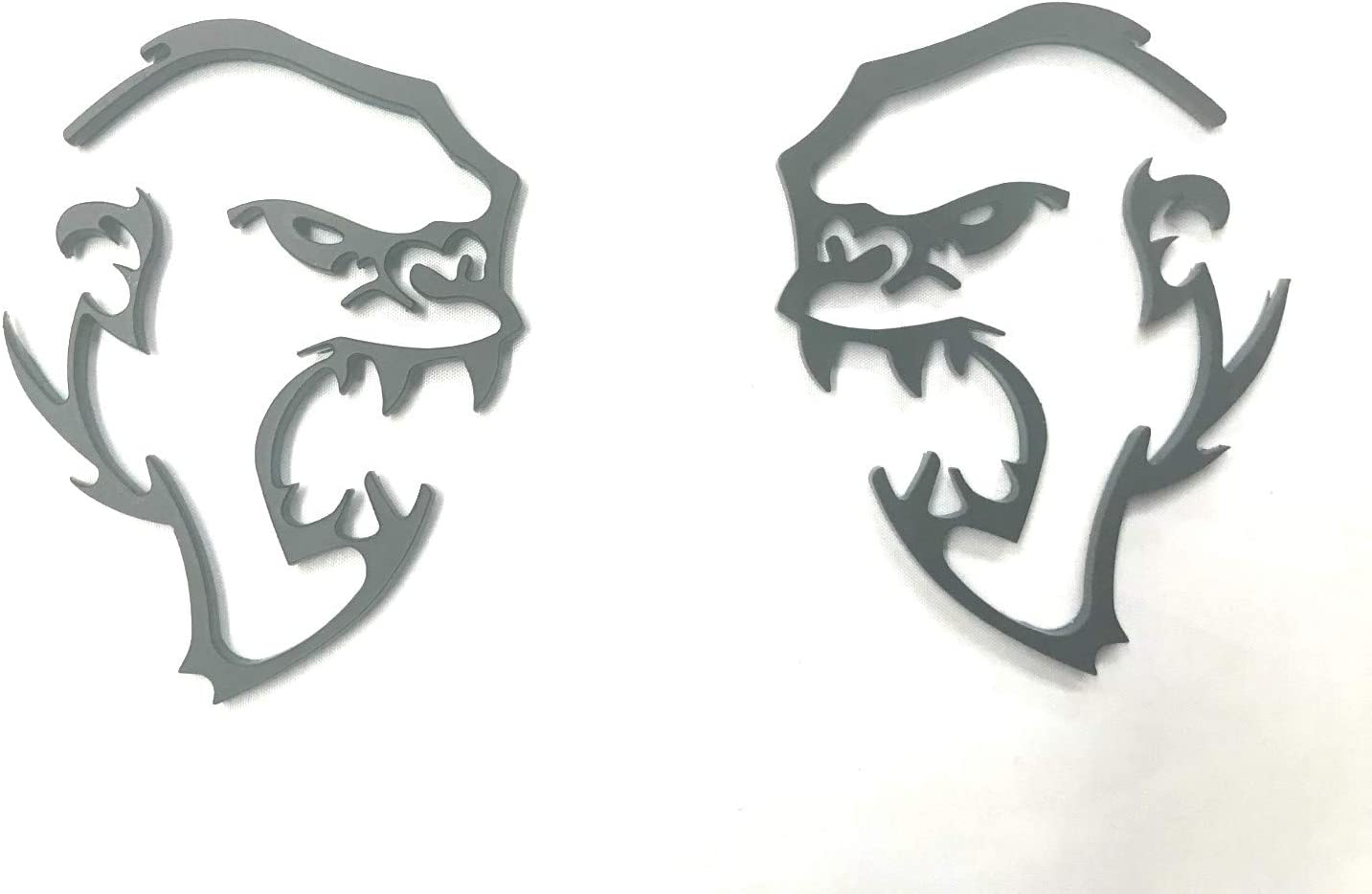 Auggies Pair 2 Custom Hellephant Hemi 426 Super Angry SRT Fender Side Emblem Badges For Challenger Charger Gift Matte Black