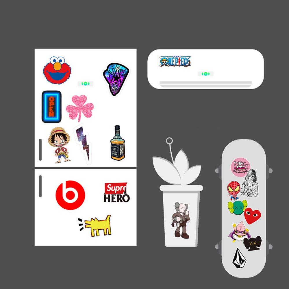 L/&U 100 PCS Dragon Ball Z Pegatinas el MacBook Monopat/ín,Style1 Etiquetas del Paquete Impermeable Vinilo removible Adhesivos para el Ordenador port/átil Botellas