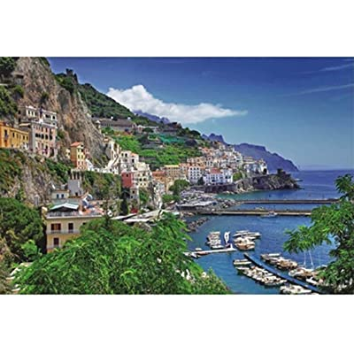 BBesty Aegean Sea Greece Landscape Floor Puzzle Romantic Bay Town 1000 Pieces Jigsaw Puzzle for Children Adults Intellectual Educational Game: Toys & Games [5Bkhe0805333]