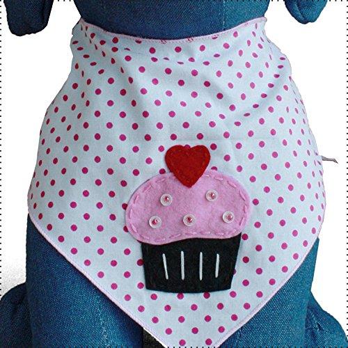 Pictures of Tail Trends 2 Pack Designer Dog Bandana Pink Medium 3