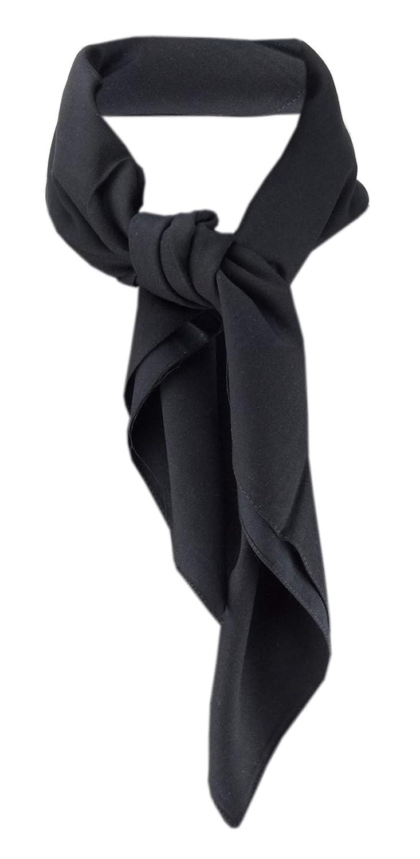 Damen Halstuch in schwarz einfarbig Uni - Tuch 70 cm x 70 cm - 100% Baumwolle