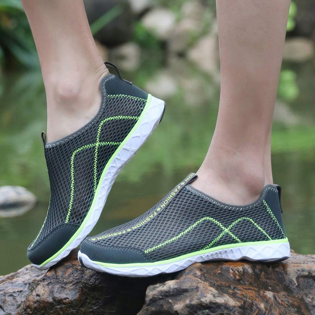 Darringls Zapatillas de Deporte Respirable para Correr Deportes Zapatos Running Hombre Zapatillas Running para Hombre Aire Libre y Deporte Transpirables Zapatos Gimnasio Correr Sneakers Verde 39-46
