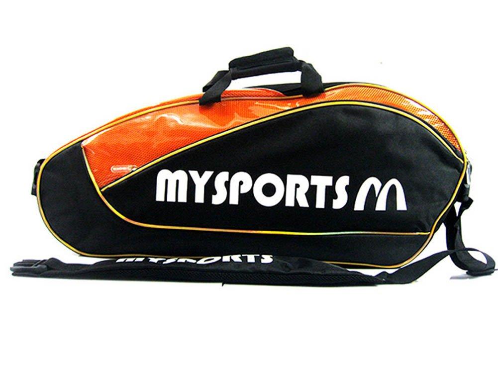 Adjustable Shoulder Strap Badminton Racket Cover Badminton Racket Bag Tennis Bag (3 Racquet), Black Black Temptation