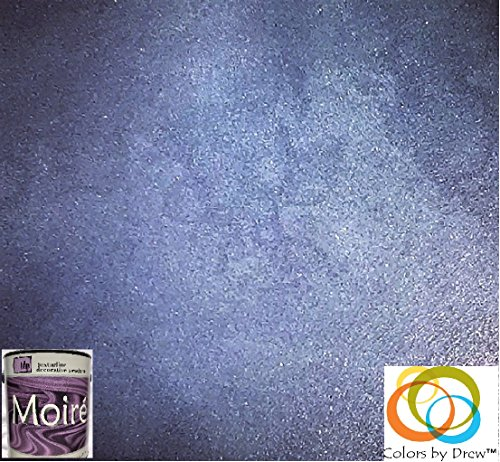 MOIRE WILD SILK ACRYLIC BASED DECORATIVE METALLIC PLASTER PAINT PRECOLORED ROLLER OR BRUSH APPLIED DECORATIVE FINISH THAT LOOKS FEELS LIKE SHIMMERING FINE SILK By Colors By Drew (GALLON) (CBDGAL) by MOIRE WILD SILK (Image #5)