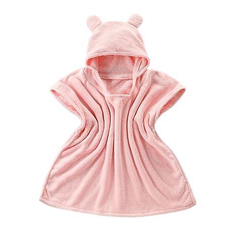 Toalla de baño para niños, diseño de oso con capucha, para baño, natación