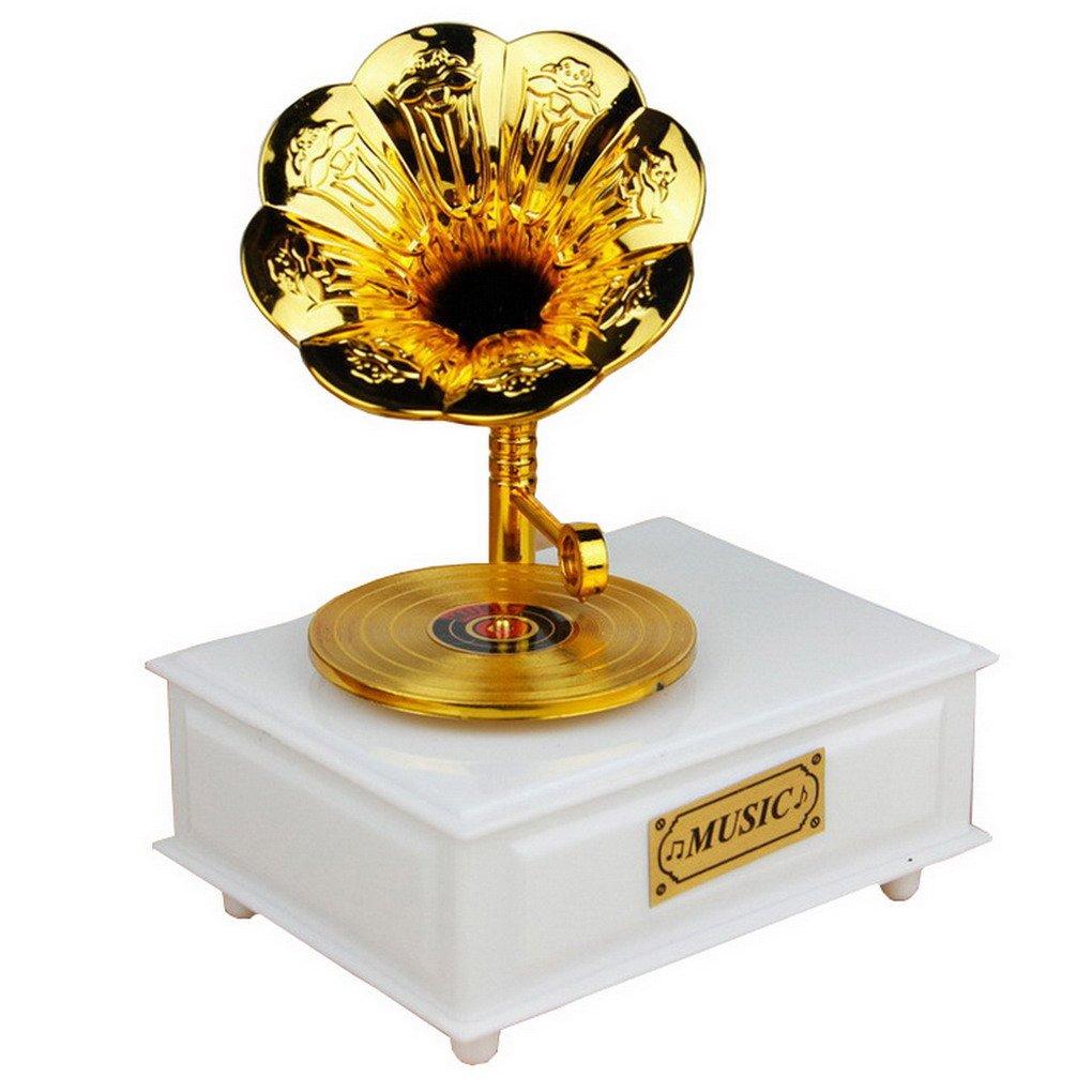 無料配達 ヴィンテージGramophone Classical Movement音楽ボックス ホワイト ACMEDE-123 ホワイト ACMEDE-123 B01IHARL9M B01IHARL9M ホワイト, 価格破壊研究所:a2a3f826 --- egreensolutions.ca
