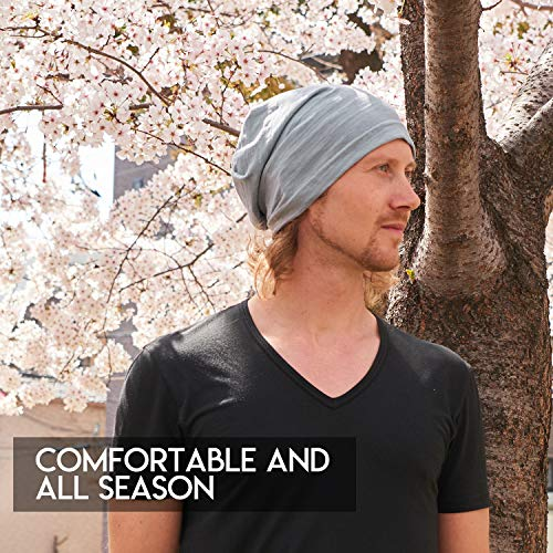 5a6fd364865 CHARM Summer Beanie for Men and Women - Slouchy Lightweight Chemo Cotton  Fashion Hat