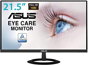 "Asus VZ229HE 21.5"" Monitor Full HD 1080P IPS Eye Care with HDMI VGA,Black"
