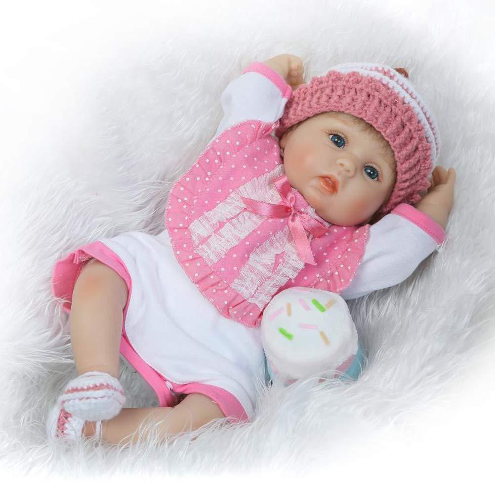 Homesave Reborn neonata, 17 Pollici in Silicone Realistico Bambino Carino Regalo Bambola Set per età 3 +