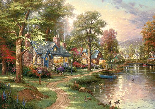 Schmidt Puzzle 1500 pieces - The little house on the lake - T. Kinkade (code 57452)