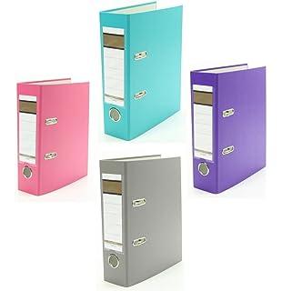 je 1x orange 2-Ring Ordner pink und lila Farbe 3x Ringbuch DIN A5