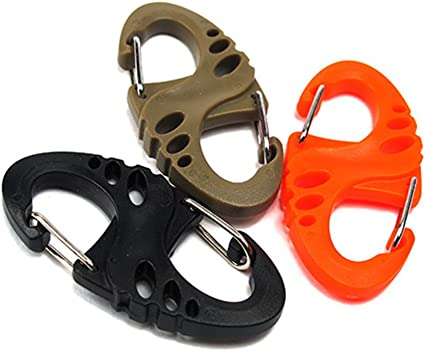 Outdoor Hook Buckle Snap Clip Mount Climbing Carabiner Number Key Chain 8C