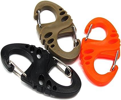 8 Shape Camping Mountaineer Buckle Bottle Hanging Hook Carabiner Keyfob key ring