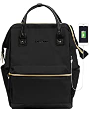 ad513a9b94bc KROSER Laptop Backpack 15.6 Inch Water Repellent Wide Open with USB Port  Black