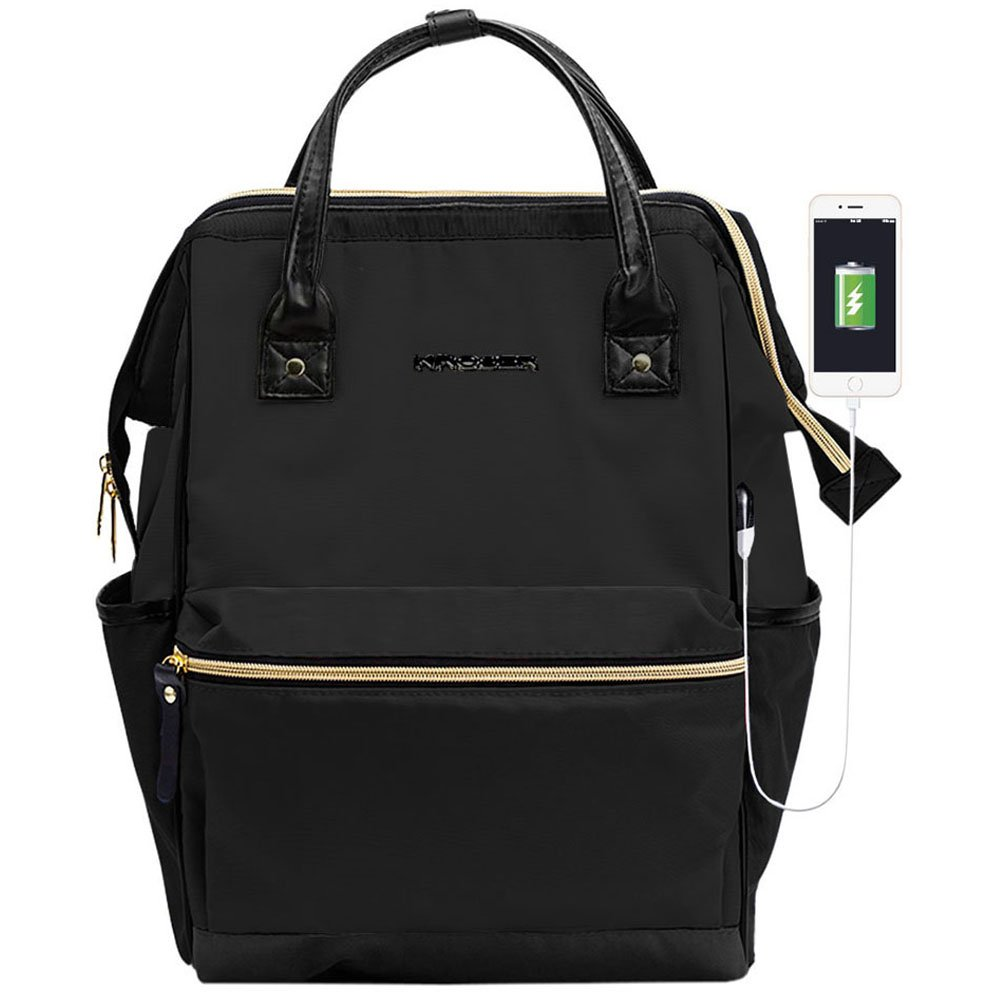 e432d6a7bb72 KROSER Laptop Backpack 15.6 Inch Stylish Computer Backpack School Backpack  Casual Daypack Laptop Bag Water Repellent Nylon Business Bag Tablet With  USB Port ...