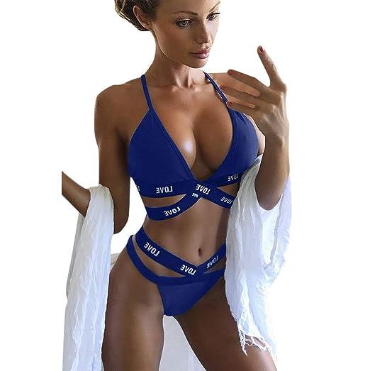 ASC Traje de baño de moda Mujeres Bikini Push up Bikinis ...