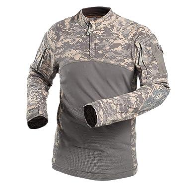 huge inventory d1b84 03028 YuanDian Herren Camouflage Militär Tactical T Shirt Langarm Outdoor Elastic  Frog Anzug Combat Armee Jagd Bluse Camo Military Tarnmuster Atmungsaktiv ...