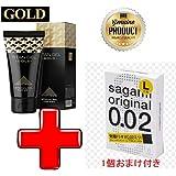 タイタンジェル ゴールド Titan gel Gold + サガミ オリジナル 0.02 ミリ L-サイズ オマケ付き 日本語説明付き [並行輸入品]