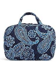 Vera Bradley Grand Cosmetic Case, Blue Bandana, 15044-286