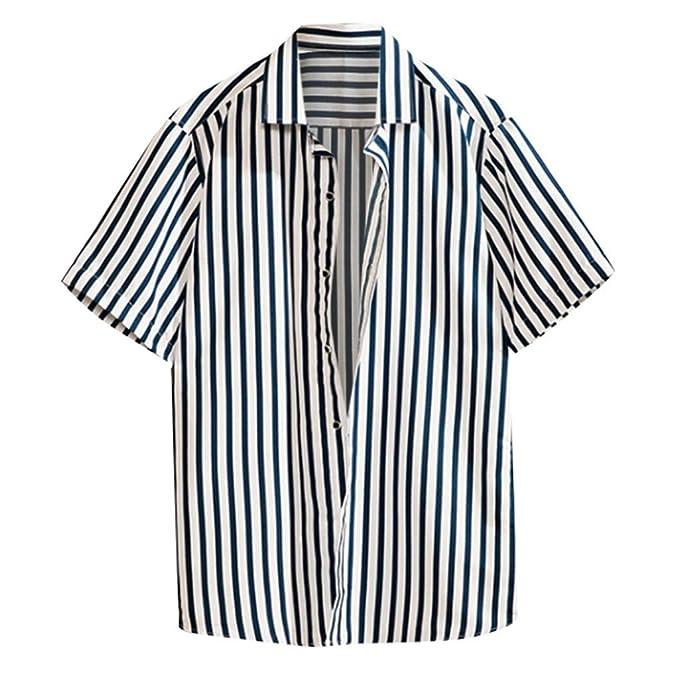 6a1772d179f1f Amazon.com: JJLIKER Men's Fashion Short Sleeve Button Down Shirt ...