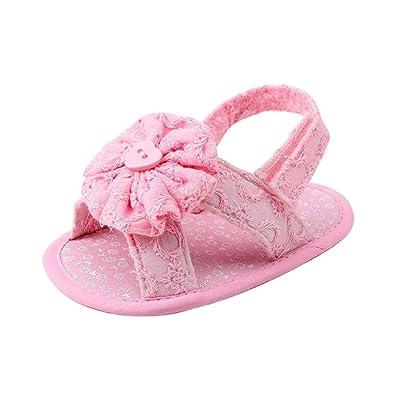 Manadlian Chaussures Bébé, Bébé Fleur Sandales Toddler Princess First Walkers Filles Chaussures