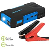 Superpow 800A Peak 18000mah Car Jump Starter Battery Booster Portable Power Bank with Phone Charger(up to 6.5L Gas, 5.2L Diesel Engine) (800A)