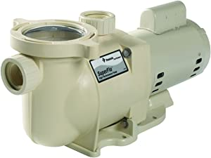 Pentair 348024 SuperFlo High Performance Energy Efficient Single Speed Pump, 1 1/2 Horsepower, 115/208-230 Volt, 1 Phase