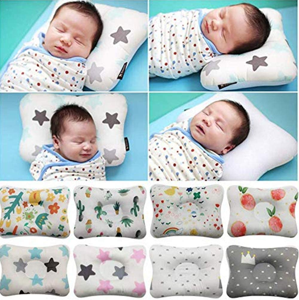 Pink Star Baby Pillow Baby Pillows for Sleeping Newborn Head Protection Cushion Four Seasons Available