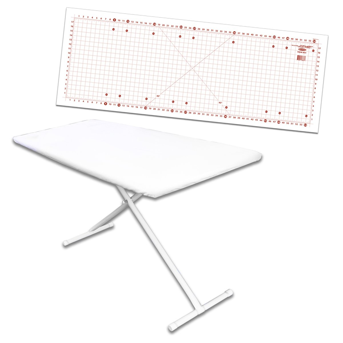 Sullivans Better Board Ironing Board Overlay with 59-inch by 22-inch Cutting Mat Bundle by Sullivans