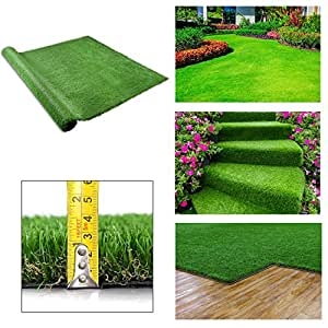 GC Global Direct 4-Tone Artificial Grass Rug Pet Turf Drain Hole Size Optional (10 x 6-3/5Ft)