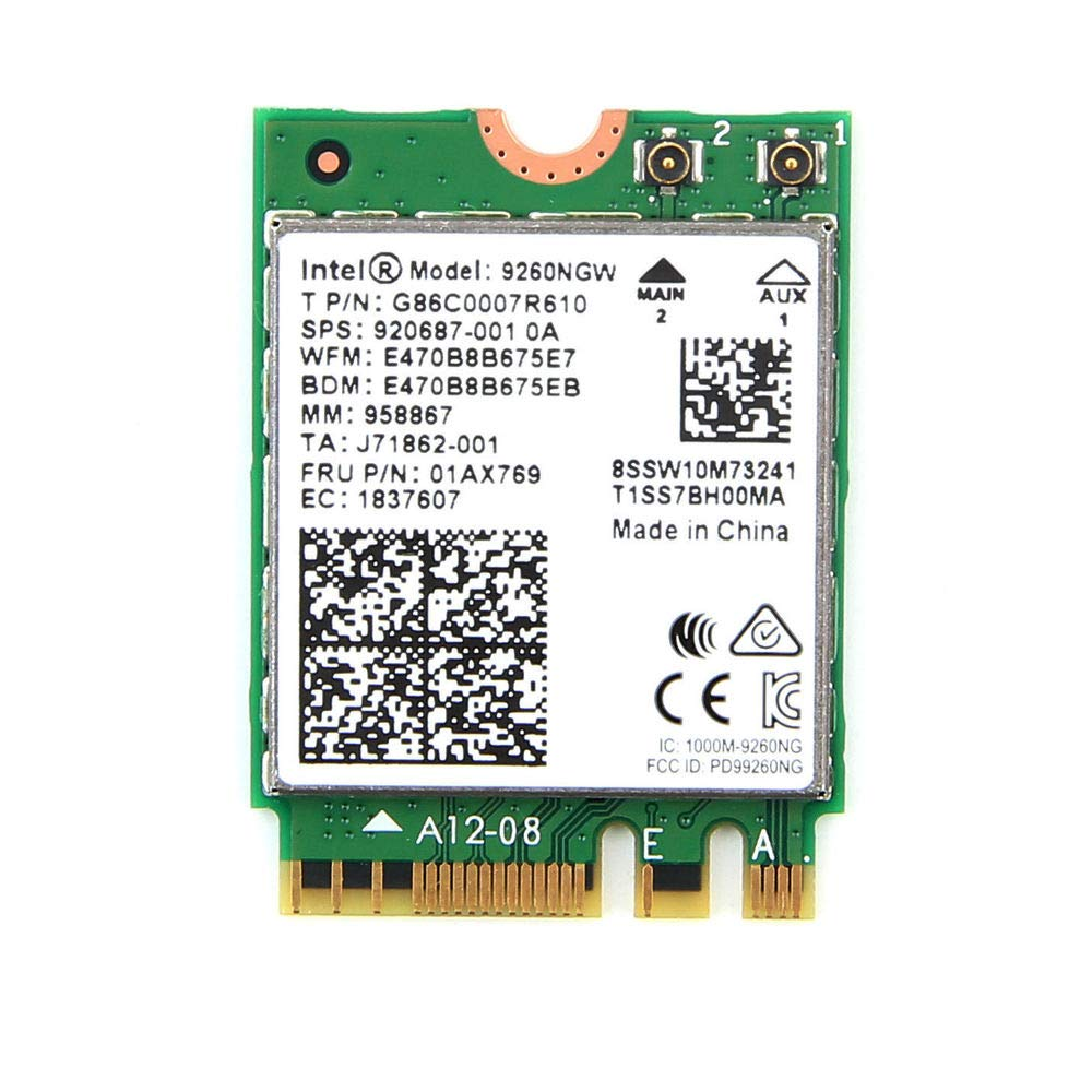 Intel Wireless Ac 9260 Paquete Individual