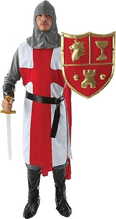ORION COSTUMES Disfraz de Caballero Inglés Medieval Cruzado ...