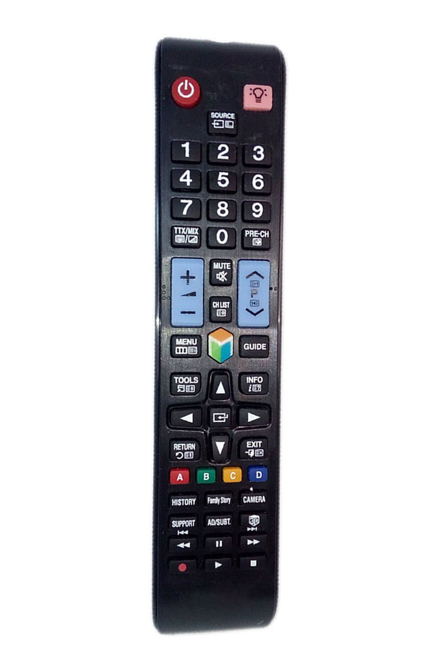 Replaced Remote Control Compatible for Samsung UN55ES7100FXZA PN51E6500EF UN50ES6500 UN55ES7500FXZA UN75ES9000 LED HDTV TV